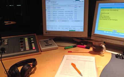Blick ins Studio von WDR 2