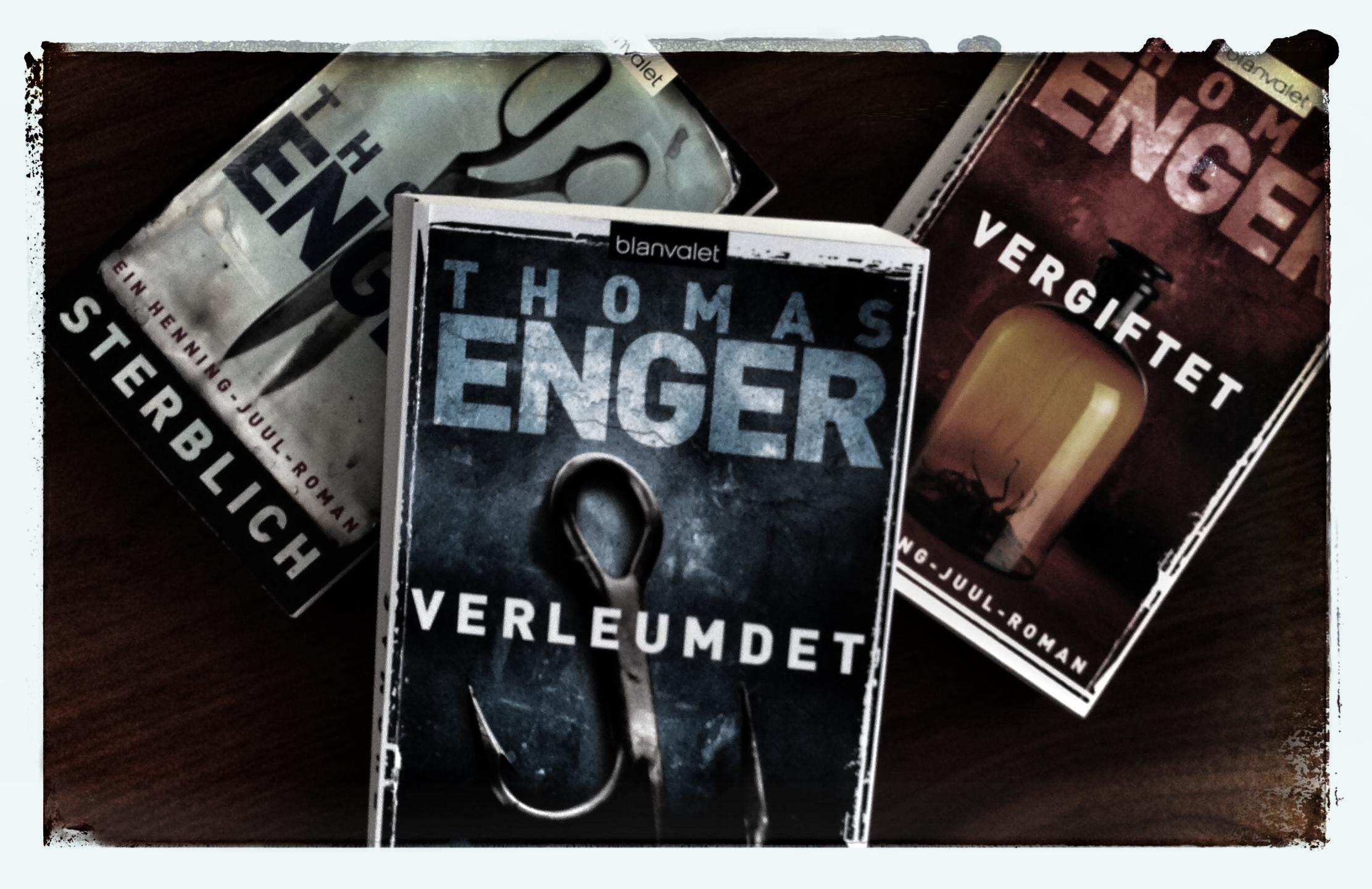 Die drei bisher erschienenen Bände der Henning-Juul-Reihe von Thomas Enger.